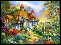 Forest Cottage - DIY Chart Counted Cross Stitch Patterns Needlework embroidery
