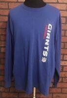 New York Giants NFL Football Long Sleeve Men's T-Shirt Size Large