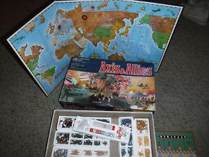 VINTAGE 1984 AXIS & ALLIES WWII MILTON BRADLEY GAME COMPLETE L@@K