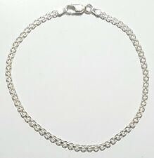 925 Sterling Silver Bismark Link Bracelet 8 inch Long  3 mm wide Made in Italy