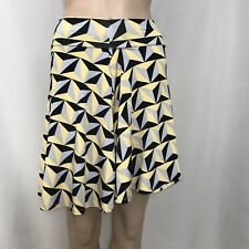 Lularoe Girls Azure Vintage Print Half Stars Skirt Knee-Length Size 10 Yellow