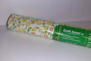 Vtg MCM Self Adhesive Vinyl 60s 70s Flowers Floral Contact Paper Shelf Liner NEW