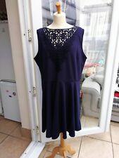 Ladies AX Paris Curve Navy Blue Skater Dress Plus Size 22 NWT