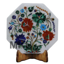 Italian Marble Tile Inlay Pietra Dura Stone Handmade Home Decor Mosaic Vintage