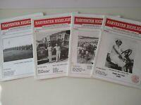 IH Harvester Highlights, 1999-2000 Quarterly IH Collectors Magazine; Lot of 4