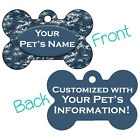 Arctic Blue Digital Camo Double Sided Pet Id Dog Tag Personalized for Your Pet