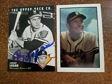 Johnny Logan 1994 Upper Deck Autographed Baseball Card Alex Stern Collection