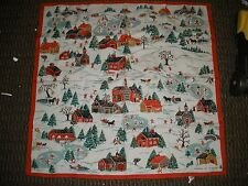"""Made in Italy Christmas 1977 scarf 1st edition 25"""" square"""