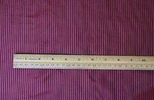 "Red/Silver Tissue Taffeta Stripes 100% Silk Fabric 44"" Wide By The Yard (SD-689)"