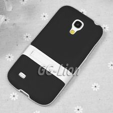 black.Stand TPU Silicone Case Skin Cover for Samsung Galaxy S4 mini,GT- i9195