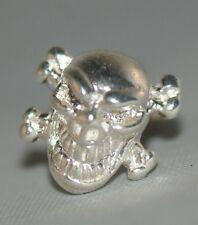 Skull Earring  [ 925 Sterling Silver ] Stud type