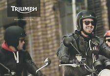 Triumph Bonneville inc Thruxton + Scrambler Brochure / Poster 2013 / 2014
