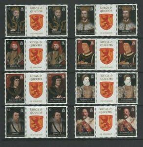 Solomon Islands 2008 Kings & Queens 1st Series Mint MNH Set - Gutter Pairs