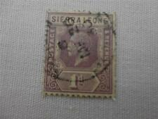 Sierra Leone 1912 to 1921 Purple Postage and Revenue Stamp