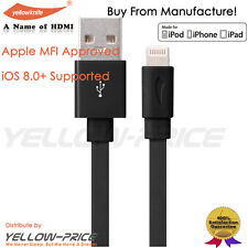 ORIGINAL YELLOWKNIFE APPLE CERTIFIED IPHONE 6 IPAD LIGHTNING USB CHARGER CABLE