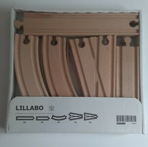 IKEA Lillabo 10 Piece Wooden Train Track Set  500.643.58 SEALED