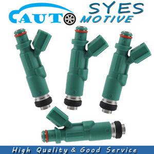 23250-21020 Set of 4 Fuel injectors For Toyota Echo Prius Scion XA XB 1.5L 01-09