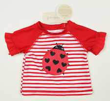 First Impressions New Infant Girls Ladybug Rash Guard Swim T Shirt Upf50 3-6 M