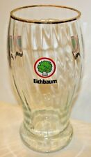 "Vintage Large Eichbaum Advertising Display Beer Bar Glass Man Cave 12"" Tall"