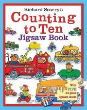 Richard Scarry's Counting to Ten Jigsaw Book: With five 24-piece jigsaws inside