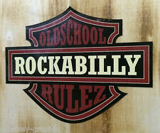 Rockabilly Rulez Oldschool Aufkleber darkred / US Car Sticker Hotrod Pinup Retro