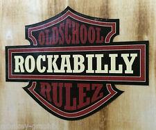 XXL Rockabilly Rulez Oldschool Aufkleber darkred / US Car Sticker Hotrod Pinup