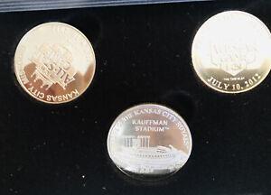 2012 Kansas City Royals All Star Game Commemorative Set Of 3 Coins Original Box