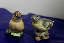 Vtg Crown Staffordshire Bird Grey Wagtail Goldcrested Wren J Bromley 286 284