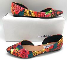 Madden Girl Women's Illustrate Flats, Floral Print, 8 M