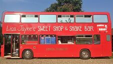 UNIQUE DOUBLE DECKER SWEET SHOP & SHAKE BAR - FULLY STOCKED AND EQUIPPED