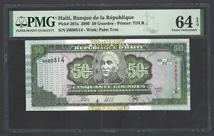Haiti 50 Gourdes 2000 P267a Uncirculated Graded 64