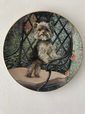 The Danbury Mint Yorkie Pals Plate Collection Garden Seat by Patricia Bourque