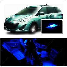 For Mazda 5 2006-2010 Blue LED Interior Kit + Blue License Light LED