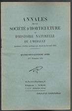 SOCIÉTÉ D'HORTICULTURE de l'Hérault par BERVILLE BLANCHET HARANT & SCHAEFER 1955