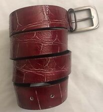 """Fashion Design Leather Belt Men's Print Red And Black In Size 32""""34""""36""""38""""40"""""""