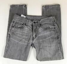Mens Boys Gray Levis 511 Size 27 Slim Fit Straight Leg Jeans