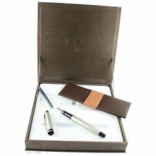 WATERMAN EXPERT CITY LINE URBAN SILVER FOUNTAIN PEN NEW IN BOX MED PT  S0725880