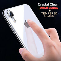 CLEAR Case For iPhone XR Cover Shockproof 360 Silicone Gel Protective TOUGH New