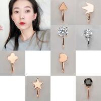 1X Star Heart No Piercing Ear Cuff Clip Cartilage Stud Wrap Earring Jewellery