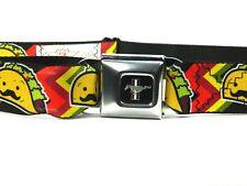 Buckle Down Taco Belt Senor Mustache Ford Mustang Adjustable Seatbelt  27-42