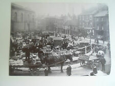 Repro Photo vintage Scene Doncaster Market Shops & People & Buildings In View #1