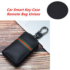 PU Leather Auto Smart Key Case Remote Bag Unisex Key Chain Holder Zipper Pouch
