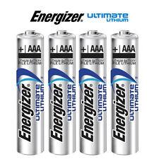 SHRINK PACK OF 4X ENERGIZER AAA 635883 ULTIMATE LITHIUM BATTERIES LR03 1.5v