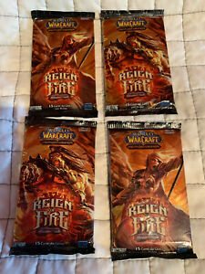 WOW TCG Reign of Fire italian 4x Booster Pack OVP/new - spectraltiger? loot?