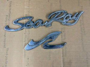 Original SEA RAY boat Emblems and Letters PLASTIC