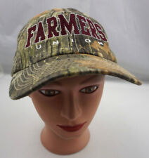 Farmers Union Hat Camo Stitched Adjustable Baseball Cap Pre-Owned ST186