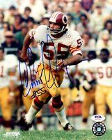 Chris Hanburger autographed signed 8x10 photo NFL Washington Redskins PSA COA