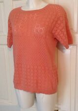 IMMACULATE HOBBS NW3 CORAL KNIT STYLE LACE JUMPER UK 10-12 (SEE MEASUREMENTS)