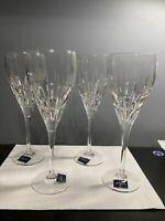 4 MIKASA ROYAL LEAD CRYSTAL ICE TEA/WATER/WINE GOBLETS GLASSES 9 oz. 5065403