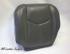 2003 2004 2005 2006 GMC Sierra Driver Bottom Leather Seat Cover Dark Gray 692